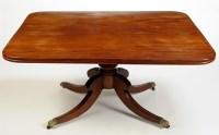 Lot 1346-A late Regency rectangular mahogany tip-up-top...