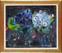 Lot 257-Anne Redpath, OBE, RA, RSA ''CINERARIAS''...