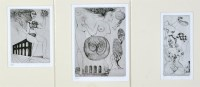 Lot 1318-Elfriede Weidenhaus Surrealist female figures,...