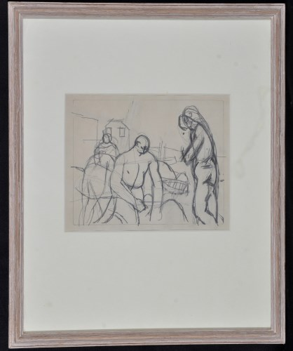 Lot 1357-Keith Vaughan ''Figures on shore'', with...