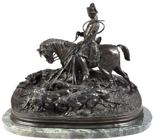 Lot 329-After Pierre Jules Mene: an 'Animalier' bronze...