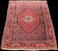 Lot 822 - A Bidjar rug, with central diamond-shaped...