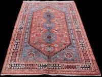 Lot 829 - A Yalameh carpet, with blue triple medallion...