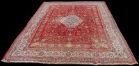 Lot 832 - A Sarough Mahal carpet, the central medallion...