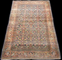 Lot 834 - An Isfahan rug, decorated with full floral...