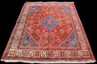 Lot 840 - A Joshagan carpet, the central diamond-shaped...