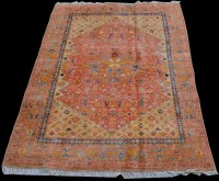 Lot 841 - A Ferahan rug, with full floral decoration...