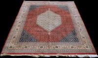 Lot 842 - A Bidjar carpet, the central ivory coloured...