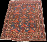 Lot 846 - An Afshar rug, with geometric shapes and...