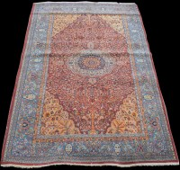 Lot 847 - A Hereke rug, with tree-of-life design, 249 x...