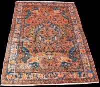 Lot 851 - A Nahavand rug, of geometric floral design,...