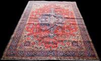 Lot 852 - A Tabriz carpet, the large central medallion...