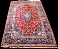 Lot 862 - A Kashan carpet, the central medallion...
