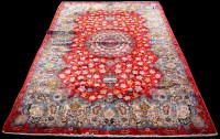 Lot 867 - A Kashan carpet, the central rosette...