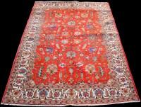 Lot 868 - A Tabriz carpet, with floral scrolling design...