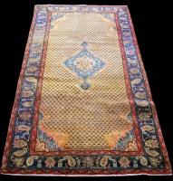 Lot 875 - A Beije rug, the central foliate medallion...