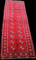 Lot 886 - A woven wool runner, with Bokhara design, 269...
