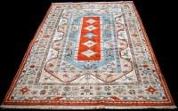 Lot 889 - A Turkish carpet, with five diamond-shaped...