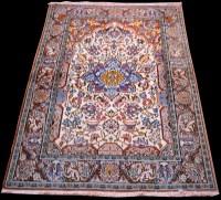 Lot 890 - A Qum prayer rug, of floral design, 158 x 104cms.