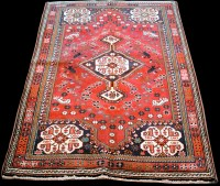 Lot 892 - A Quashqai rug, with central diamond-shaped...