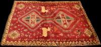 Lot 906 - A Qashqai tribal rug, with double lozenge...