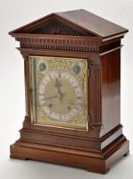 Lot 912 - A German walnut mantel clock, c.1900, the...