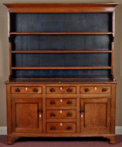 Lot 972 - A late 18th Century oak Welsh dresser, the...