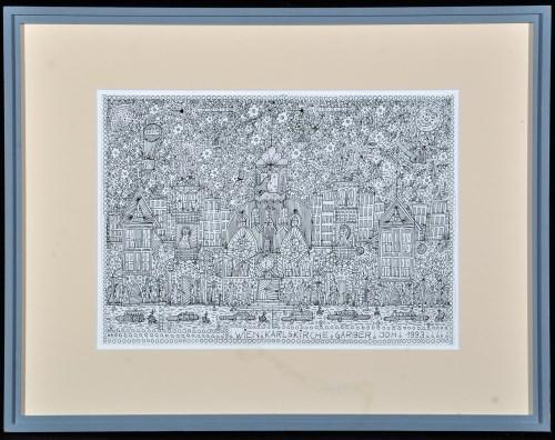 Lot 24-Johann Garber ''Wien, Karlskirche'' 1993 Signed,...