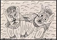Lot 28 - Johann Garber ''Katzen'' 1986 Signed,...