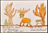 Lot 34 - Ferdinand Hauer ''Ein Hirsch im Wald'' 1985...