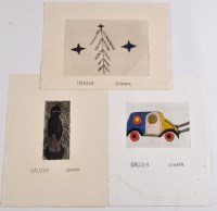 Lot 38 - Johann Hauser ''Auto'' 1970 Signed in the...