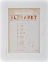 Lot 42 - Peter Hutchinson ''Alphabet'' 1974 Mixed media:...