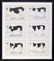 Lot 61 - Franz Kamlander ''Kuthe'' (Cows) 1981 Signed...