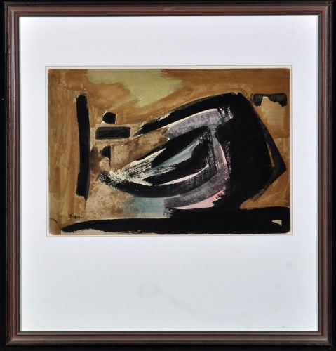Lot 155-Theodoros Stamos Untitled 1947 Signed and dated...