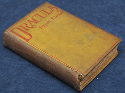 Lot 1207-Stoker (Bram) Dracula, 8vo, original yellow cloth ...