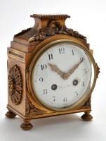 Lot 1282-A 19th Century French gilt bronze mantel clock,...