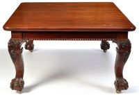Lot 1316-A Victorian mahogany extending dining table, the...
