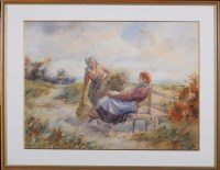 Lot 63 - Tom Paterson (fl.1920's) TWO WOMEN RESTING AT...