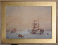 Lot 99 - Bernard Benedict Hemy (1845-1913) A BRIGANTINE...