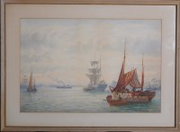 Lot 100 - Bernard Benedict Hemy (1845-1913) A FISHING...