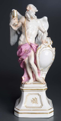 Lot 426 - Meissen: a figure of Kronos (Old Father Time),...