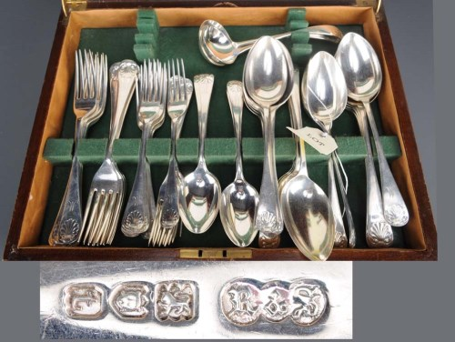 Lot 550-A George V near complete flatware service for...