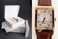 Lot 741-Jaeger LeCoultre: an 18ct. rose gold Reverso...