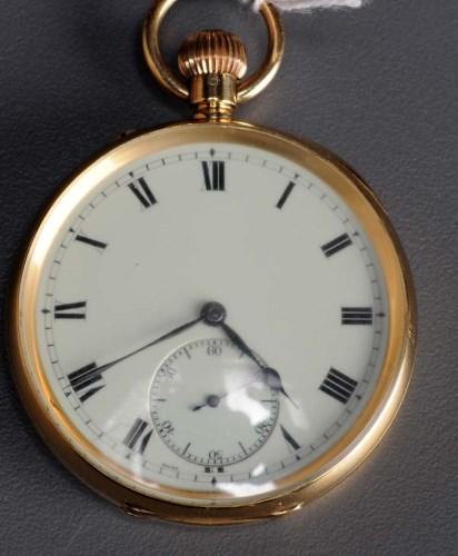 Lot 748 - An 18ct. gold gentleman's open faced pocket...