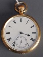 Lot 753-An Edwardian gentleman's 18ct. gold open faced...