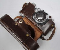 Lot 1192-A Leica IIIc camera, serial no. 405794, fitted...