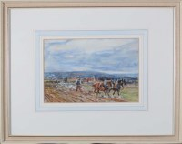 Lot 38 - Roland Henry Hill (1873-1952) A PLOUGHMAN AND...