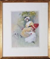 Lot 43 - Dudley Hardy (1865-1922) ''THE GARDEN SWING'' -...