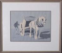 Lot 57 - John Atkinson (1863-1924) A HORSE AND CART...