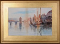 Lot 65 - Frank Rousse (fl.1897-1915) FISHING BOATS IN A...